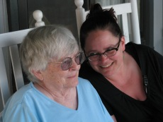 Mom and Ginger Carolina Beach